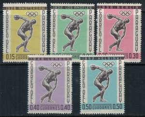 Paraguay #707-11*  CV $3.75  Olympics