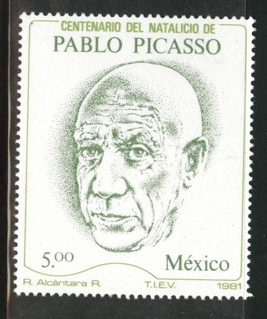 MEXICO Scott 1251 MNH** from 1981 Pablo Picasso stamp