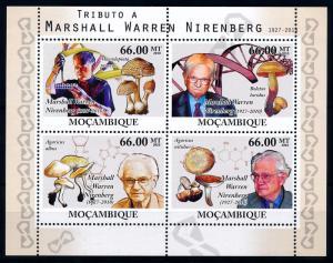[68655] Mozambique 2010 Mushrooms Pilze Champignons Nobel Price Sheet MNH