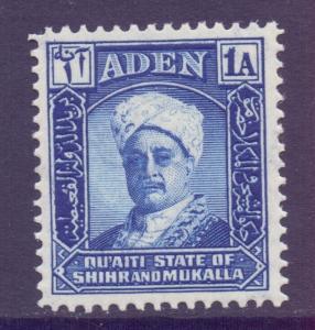 Aden Mukalla Scott 3 - SG3, 1942 Sultan 1a MNH**