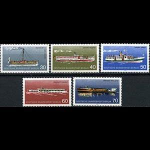 GERMANY-BERLIN 1975 - Scott# 9N354-8 Ships Set of 5 NH