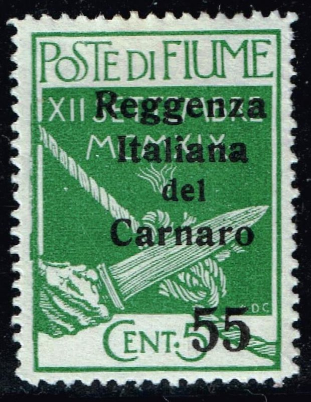 FIUME STAMP Carnaro Islands 1920 Military Post Stamps Surcharged MH/OG 55/5C