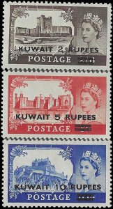 Kuwait #117-119 1953 Mint LH Set of 3