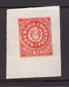 Argentina 10c postal stationary Cutout VFU VFG
