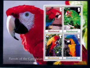 [40113] Montserrat 2007 Birds Vögel Oiseaux Ucelli  Parrots MNH Sheet