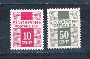 Singapore J11;J13 MNH Numerals 1981 (S1141)