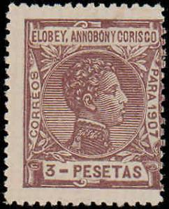 1907 Elobey, Annobon & Corisco #51, Incomplete Set, Hinged