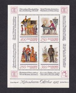 Denmark  #825  MNH  1986  Hafnia `87 sheet