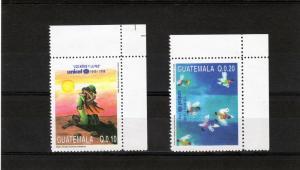 Guatemala 1997 Unicef 50th.Anniv.Doves Set(2)MNH Sc # 468/69