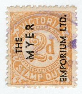 (I.B) Australia - Victoria Revenue : Stamp Duty 2d (Myer Emporium)