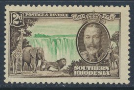 Southern  Rhodesia  SG 32 SC# 34  MH  Silver Jubilee  see scans  and detail