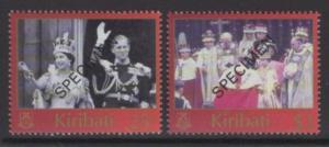 KIRIBATI SG674/5s 2003 ANNIV OF CORONATION SPECIMEN MNH