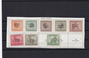 ruanda urundi mounted stamps on piece for collectors ref r12281