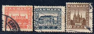 Denmark Scott # 156 - 158, used