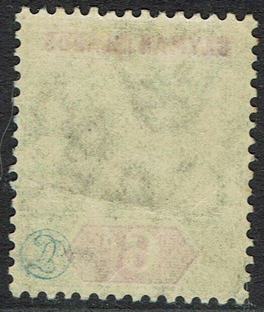 CAYMAN ISLANDS 1907 KEVII 6D WMK MULTI CROWN CA