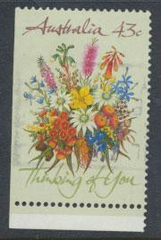 SG 1231  SC# 1164b  Used bottom left margin imperf Wildflowers