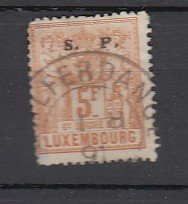 J25804  jlstamps 1882 luxembourg used #o63 ovpt