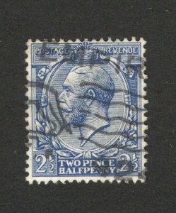GB - UNITED KINGDOM - USED STAMP - GEORGE V - 2 1/2p