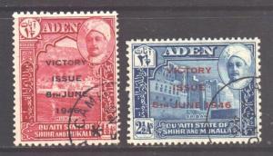 Aden Mukalla Scott 12/13 - SG12/13, 1946 Victory Set used