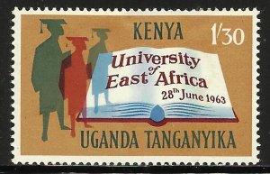 Kenya, Uganda & Tanzania 1963 Scott# 141 MH (thin)