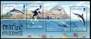 GIBRALTAR Sc#764 1998 Marine Life Souvenir Sheet Complete Used