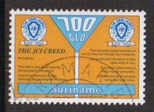 Surinam  #1019  cancelled  1995  Nilom Junior Chamber