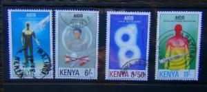 Kenya 1992 Aids Day set Used