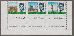 Qatar # 102-102A, John F. Kennedy Memorial, Perf, NH, 1/2 Cat.