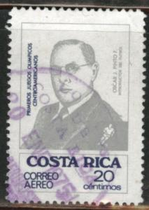 Costa Rica Scott C610 used 1974 Airmails