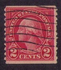 US Sc 599b Used Carmine Lake F-VF CV $175.00