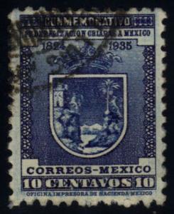 Mexico #734 Arms of Chiapas, used (35.00)