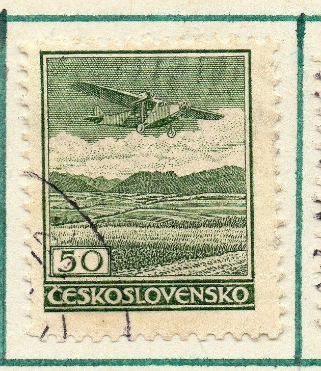Czechoslovakia 1930 Air Early Issue Fine Used 50h. 230292