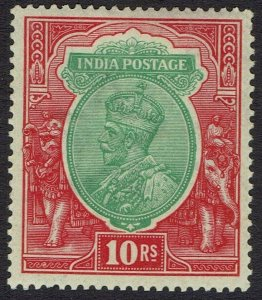 INDIA 1911 KGV 10R WMK LARGE STAR