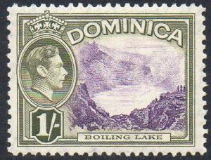 Dominica 1938 1/- Boiling Lake MH