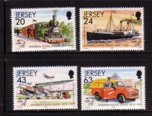 Jersey Sc 884-7 1999 125th Anniv UPU stamp set mint NH