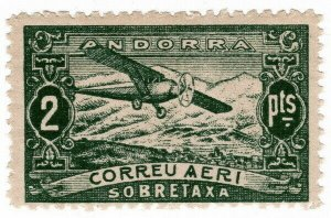 (I.B) Andorra Postal : Air Mail 2P