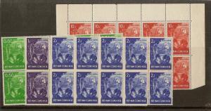 Vietnam (S) 1958 Living Standards SG554-557 MNH Blocks