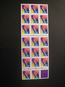 Scott 3122a, 32c Statue of Liberty, Pane of 20, #V2122, Stamps Etc backing, MNH