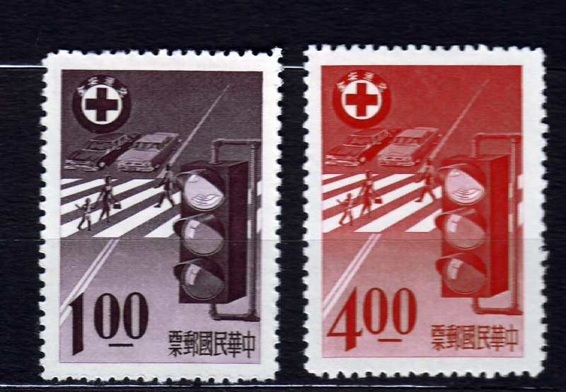 J22937 JLstamps 1965 taiwan china set issued mng mh #1464-5 traffic light
