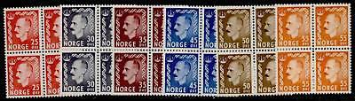 Norway 310-5 Blocks of 4 MNH King Haakon