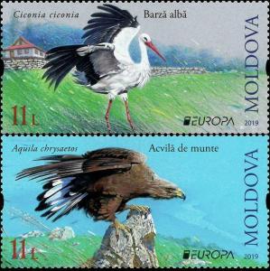 Moldova 2019 fauna  birds Europa cept 2v MNH