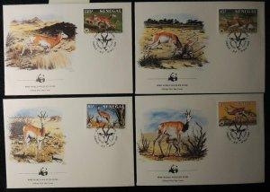 senegal 1986 WWF dama gazelle 4 values FDC superb used animals mammals