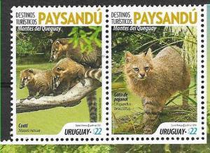 URUGUAY 2019 FAUNA,WILD ANIMALS ,PAYSANDU TOURISTIC REGION,PAIR, MNH