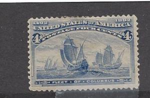 United States, 233, 1893 Columbian Expo Single,**Hinged**
