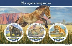 Niger - 2020 Extinct Species - 3 Stamp Sheet - NIG200212a