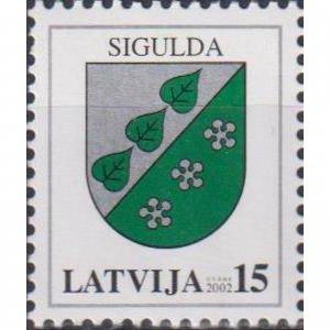 Latvia 2002 Coats of arms of Latvia - Sigulda  (MNH)  - Coats of arms