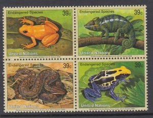 UN New York 911a Amphibians and Reptiles MNH VF