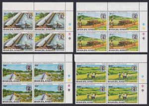 Swaziland Natural Resources 4v Corner Blocks of 4 SG#200-203 SC#199-202