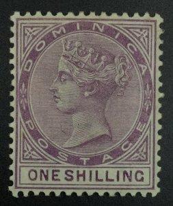 MOMEN: DOMINICA SG #26 1890 MINT OG LH £200 LOT #62128