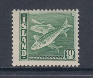 Iceland Sc 221b MLH. 1940 10a Herring, comb perf 14x13½, F-VF, Fish Topical